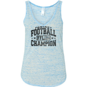 Fantasy Football Champion FFL 2014 - Ladies' Flowy V-Neck Tank