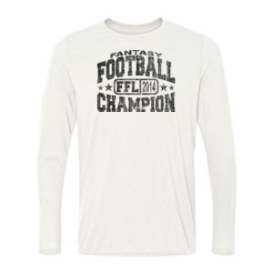Fantasy Football Champion FFL 2014 - Light Long Sleeve Ultra Performance 100% Performance T Shirt