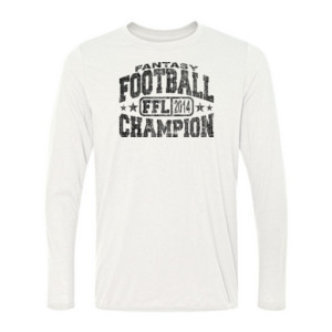 Fantasy Football Champion FFL 2014 - Light Youth Long Sleeve Ultra Performance 100% Performance T Shirt