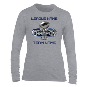 Fantasy Football Champion Large Trophy - Light Ladies Long Sleeve Ultra Performance Active Lifestyle T Shirt