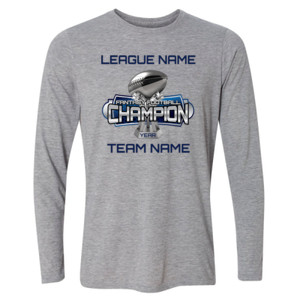 Fantasy Football Champion Large Trophy - Light Long Sleeve Ultra Performance Active Lifestyle T Shirt