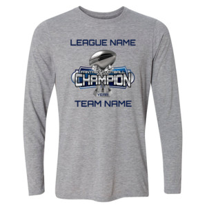 Fantasy Football Champion Large Trophy - Light Youth Long Sleeve Ultra Performance Active Lifestyle T Shirt