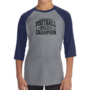 Fantasy Football Champion FFL 2014 - ALO 100% Performance Youth Baseball T-Shirt