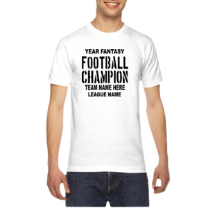 Fantasy Football Champion with League  - American Apparel Unisex T-Shirt