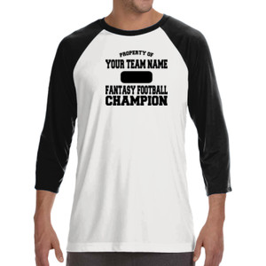 Custom Property of Fantasy Football Champion - ALO 100% Performance Unisex Baseball T-Shirt