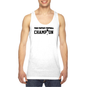 Custom Fantasy Football Championship T-shirt - American Apparel Unisex Sublimation Tank