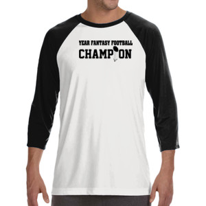 Custom Fantasy Football Championship T-shirt - ALO 100% Performance Unisex Baseball T-Shirt