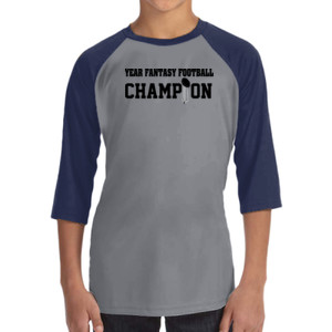 Custom Fantasy Football Championship T-shirt - ALO 100% Performance Youth Baseball T-Shirt