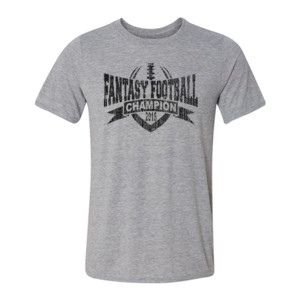 2015 Fantasy Football Champion V Outline - Light Youth/Adult Ultra Performance Active Lifestyle T Shirt