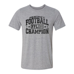 2015 Fantasy Football Champion H - Light Youth/Adult Ultra Performance Active Lifestyle T Shirt