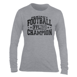 2015 Fantasy Football Champion H - Light Ladies Long Sleeve Ultra Performance Active Lifestyle T Shirt