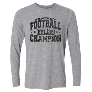 2015 Fantasy Football Champion H - Light Long Sleeve Ultra Performance Active Lifestyle T Shirt