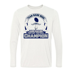 Fantasy Football Championship Design - Light Youth Long Sleeve Ultra Performance Active Lifestyle T Shirt