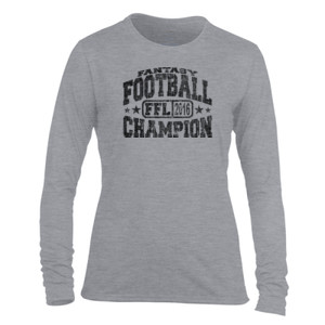Fantasy Football Champion FFL 2014 - Light Ladies Long Sleeve Ultra Performance Active Lifestyle T Shirt