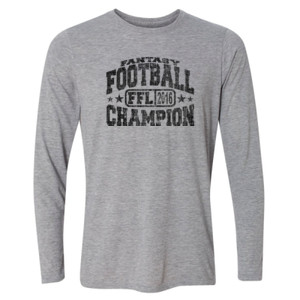 Fantasy Football Champion FFL 2014 - Light Long Sleeve Ultra Performance Active Lifestyle T Shirt