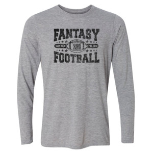 2016 Fantasy Football Champion Football - Light Long Sleeve Ultra Performance Active Lifestyle T Shirt