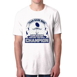 Fantasy Football Championship Design - Men's Poly/Cotton Short-Sleeve Crew Tee