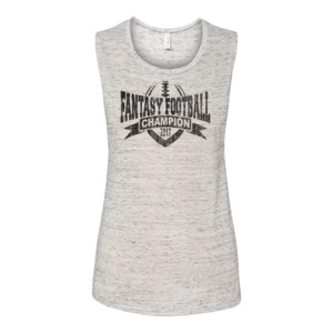 2017 Fantasy Football Champion V Outline - Bella Flowy Scoop Muscle Tank (S)