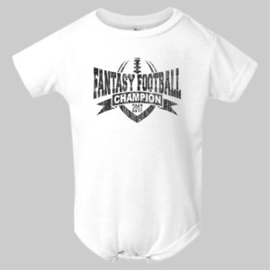 2017 Fantasy Football Champion V Outline - Infant Polyester Bodysuit Onsie