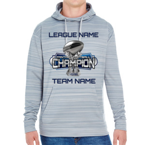 Fantasy Football Champion Large Trophy - JAmerica Unisex Poly Fleece Striped Pullover Hoodie