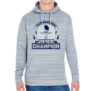Fantasy Football Championship Design - JAmerica Unisex Poly Fleece Striped Pullover Hoodie