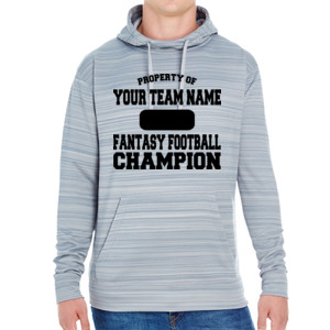 Custom Property of Fantasy Football Champion - JAmerica Unisex Poly Fleece Striped Pullover Hoodie