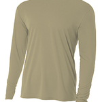 (S) Long Sleeve Cooling Performance Crew Light Color Shirt