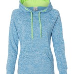 Ladies' Cosmic Poly Contrast Hooded Pullover Sweatshirt