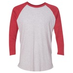 (S) Unisex Tri-Blend Three-Quarter Sleeve Baseball Raglan Tee