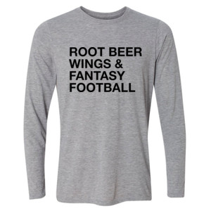Root Beer Wings & Fantasy Football - JAmerica Polyester Fleece Hoodie - Light Youth Long Sleeve Ultra Performance Active Lifestyle T Shirt
