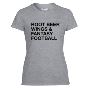 Root Beer Wings & Fantasy Football - JAmerica Polyester Fleece Hoodie - Light Ladies Ultra Performance Active Lifestyle T Shirt