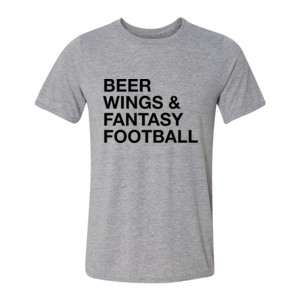 Beer Wings & Fantasy Football - Light Youth/Adult Ultra Performance Active Lifestyle T Shirt