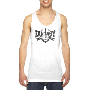 Fantasy Football Champion V Outline - American Apparel Unisex Sublimation Tank