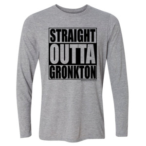 Straight Outta Gronkton - Light Youth Long Sleeve Ultra Performance Active Lifestyle T Shirt