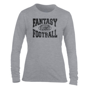 Fantasy Football Legend - Light Ladies Long Sleeve Ultra Performance Active Lifestyle T Shirt
