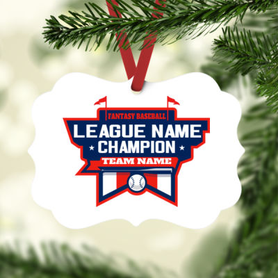 Fantasy Baseball Champion Stadium - White Aluminum Benelux Christmas Ornament Thumbnail