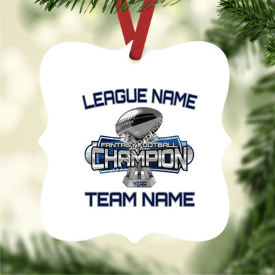 Fantasy Football Champion Large Trophy - Prague Christmas Ornament 2 Thumbnail